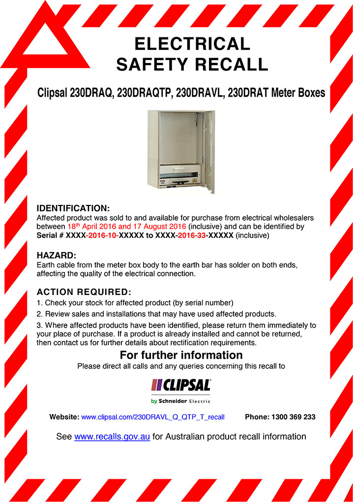 230DRAQ-series-Electrical-Safety-Recall-Advert-23-11-2016 Track Light Wiring on